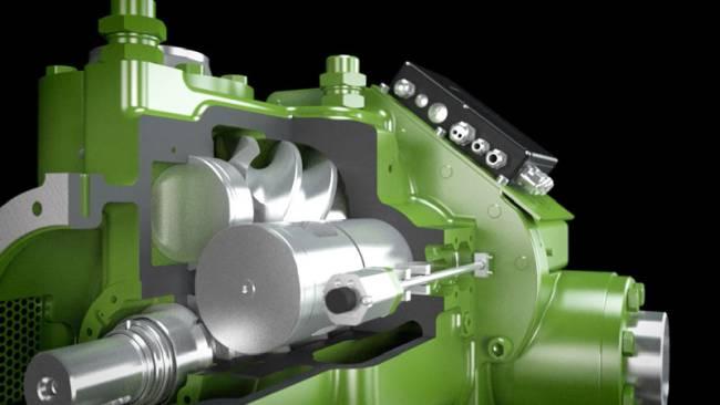 Detailliertes 3D-Modell eines technischen Produkts. Teilweise als Schnittmodel mit Einblick in das Model.