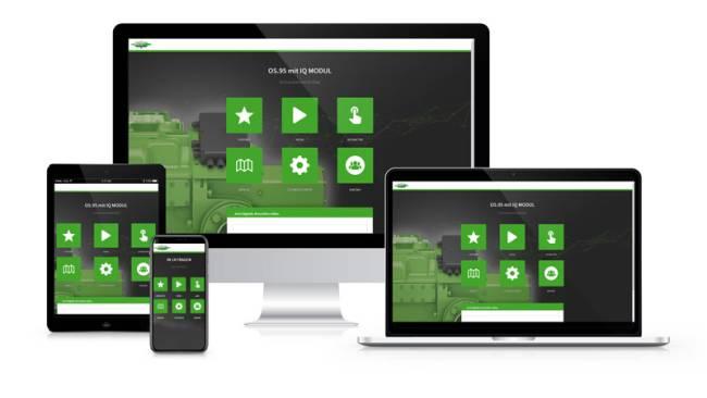 Digitale Produktbroschuere mit interaktiven Inhalten und technischen Informationen
