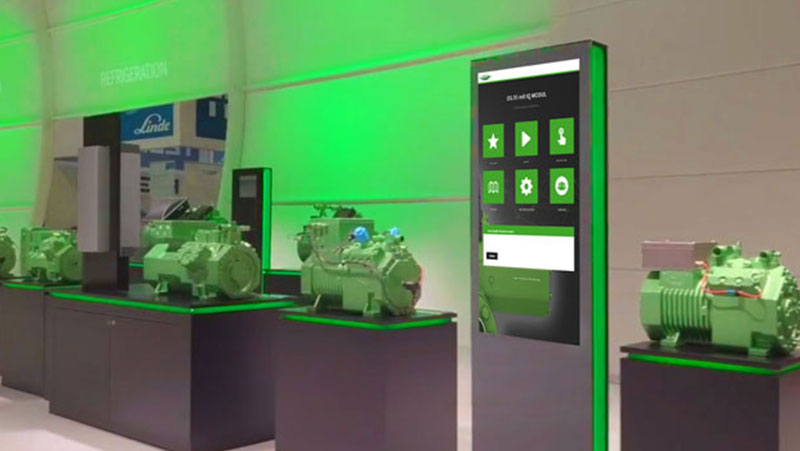 Bitzer digitale touchstele Messe