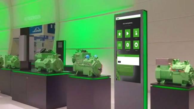 Touchstele als Information-Kiosk, Produktinformationen ansprechend praesentiert