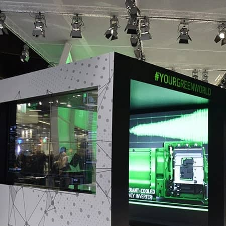 Digitale Installation für eine Messeshow