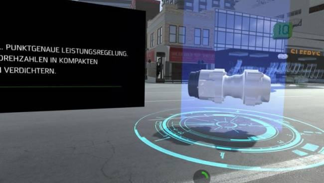 VR-Darstellung eines Produkts auf einer Messe