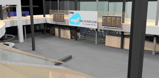 Entwurf der Eingangshalle für die Citrix Technology Exchange.