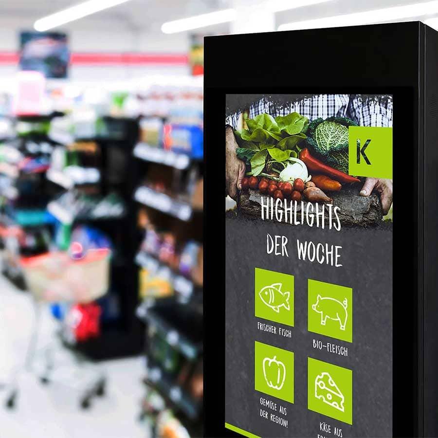Touch-Stele für den Einzelhandel