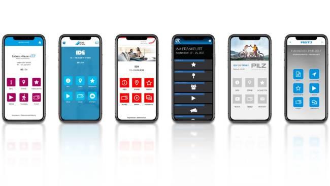 Mobile Messe Einladung: Messe Apps zur Besucher- und Mitarbeiter-Information