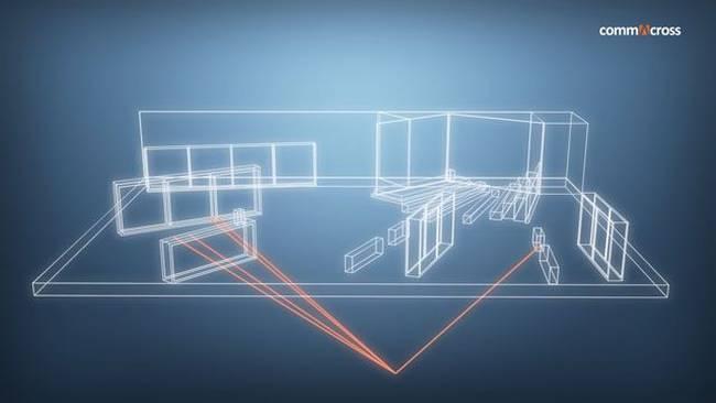 Emotionale, moderne Raumplanung und Architektur
