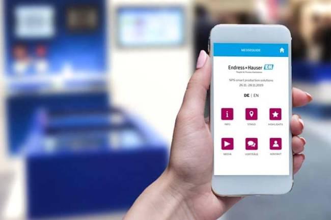 Digitale Messe-App als Alternative zu gedruckten Messe-Guides.