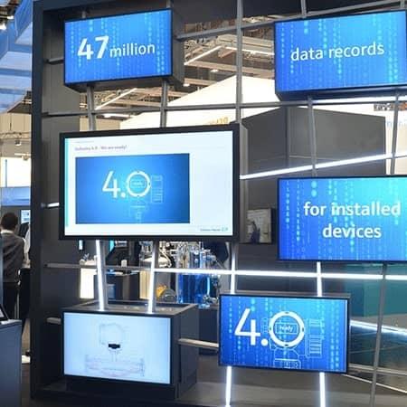 Smart-Grid-Installation für digitale Produktpraesentation
