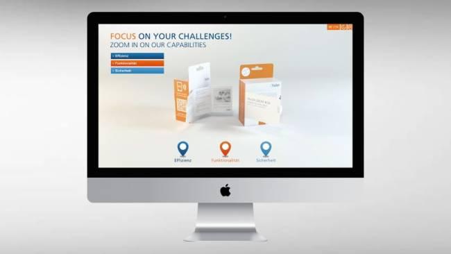 Touchanwendung für den Einsatz auf Messen, im Internet und als mobile Anwendung zur Praesentation neuer Innovationen und Produkten.