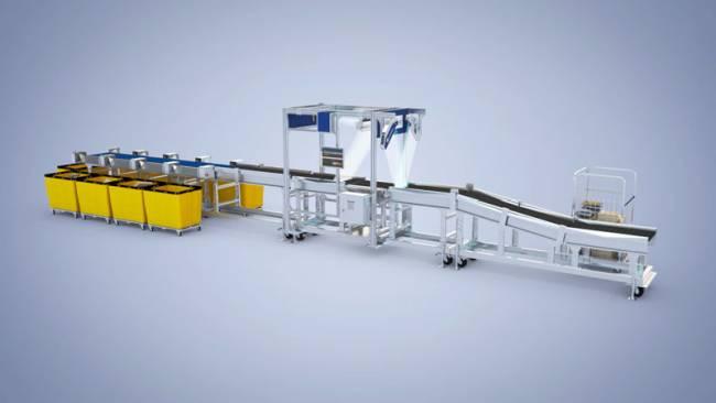 3D-Rendering einer komplexen, technischen Anlage zur Darstellung im Vertrieb und auf Messen